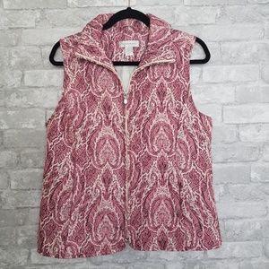 CJ Banks | Medium Pink Quilted Puffer Vest